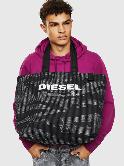 Diesel - D-THISBAG SHOP M, Black - Shopping and Shoulder Bags - Image 8