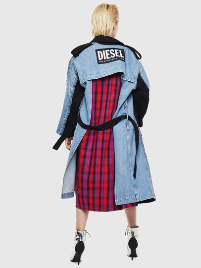 Diesel - DE-PRAVU, Black/Blue - Denim Jackets - Image 2
