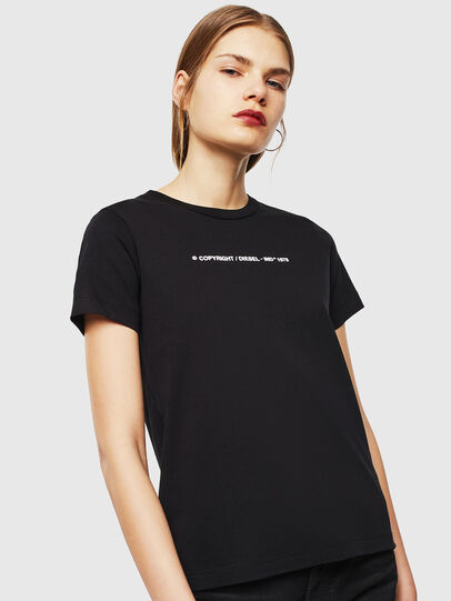 Diesel - T-SILY-COPY, Black - T-Shirts - Image 1