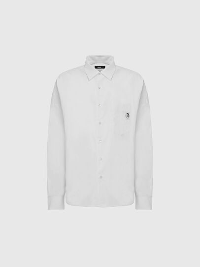 Diesel - S-LOOMY-A, White - Shirts - Image 1