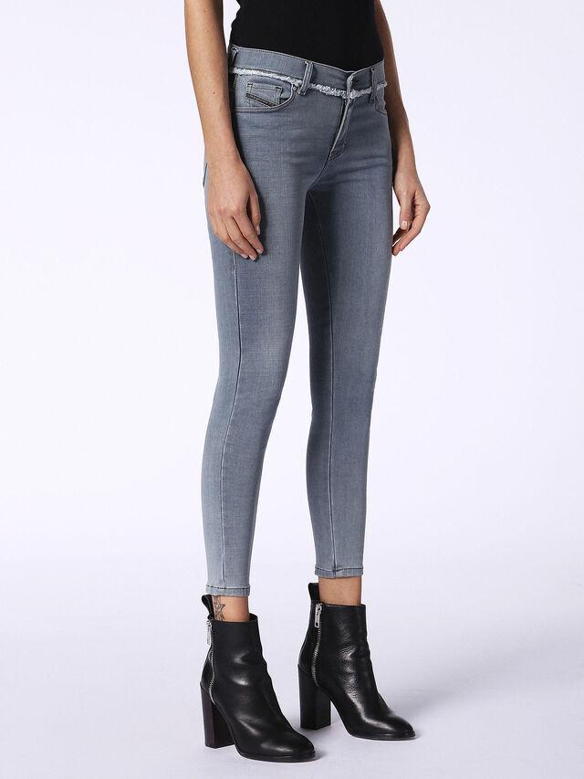 SLANDY-ANKLE-W 084QB, Blue jeans