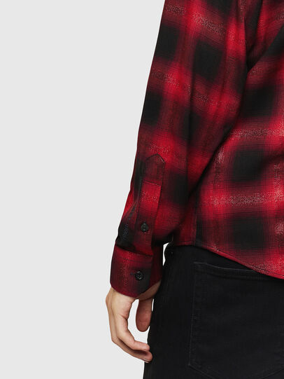 Diesel - S-MARLENE-C, Red/Black - Shirts - Image 4