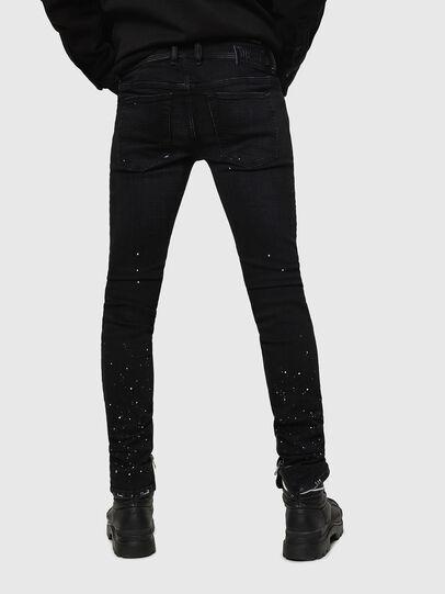 Diesel - Sleenker Zip 0093X, Black/Dark grey - Jeans - Image 2