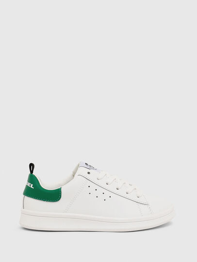 Diesel - SN LOW LACE 11 FULL, White/Green - Footwear - Image 1