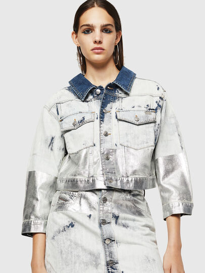 Diesel - DE-CATE, Light Blue - Denim Jackets - Image 1