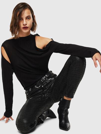 Diesel - Slandy 0094S, Black/Dark grey - Jeans - Image 6