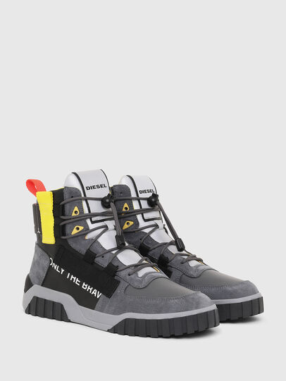 Diesel - S-RUA MID SP, Gray/Black - Sneakers - Image 2