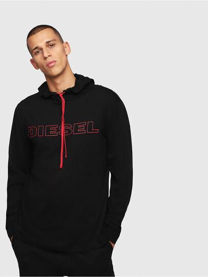 Diesel - UMLT-JIMMY, Black/Red - T-Shirts - Image 1
