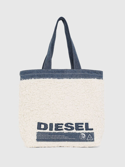 Diesel - F-THISBAG SHOPPER NS, White/Blue - Shopping and Shoulder Bags - Image 1