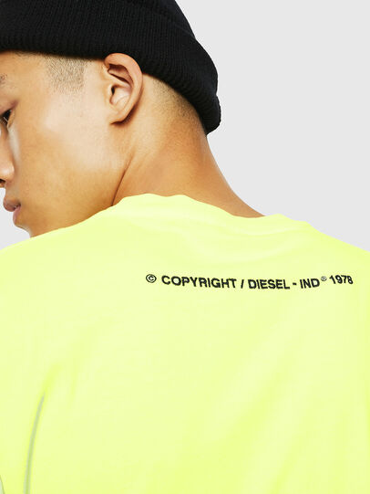 Diesel - T-JUST-SLITS-FLUO, Yellow Fluo - T-Shirts - Image 4