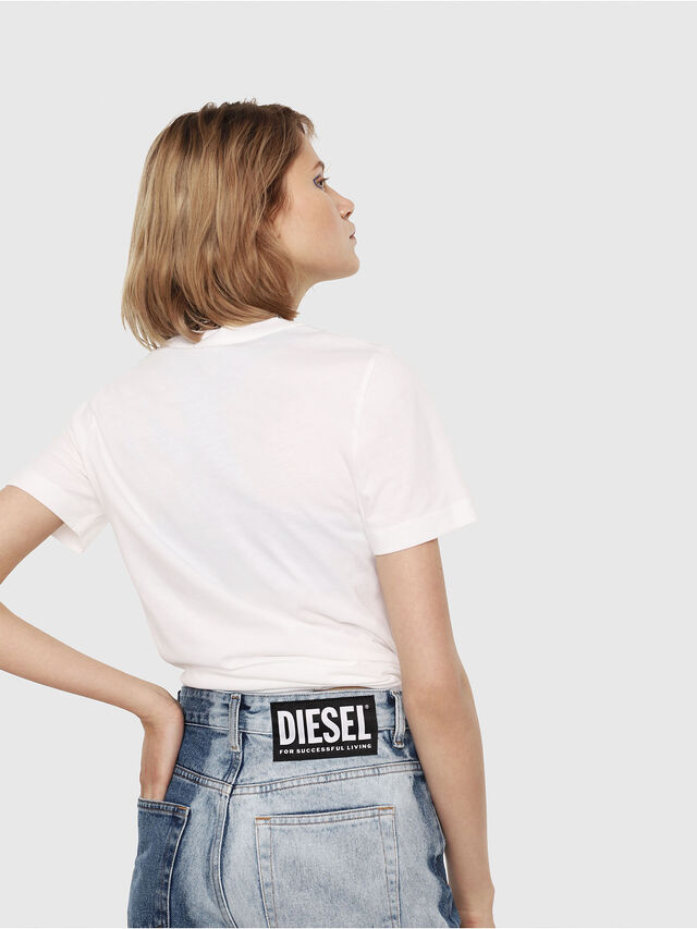 Diesel - T-SILY-C2, White - T-Shirts - Image 2