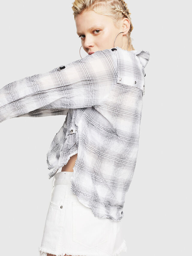 Diesel - C-SUPER-C, White/Black - Shirts - Image 4