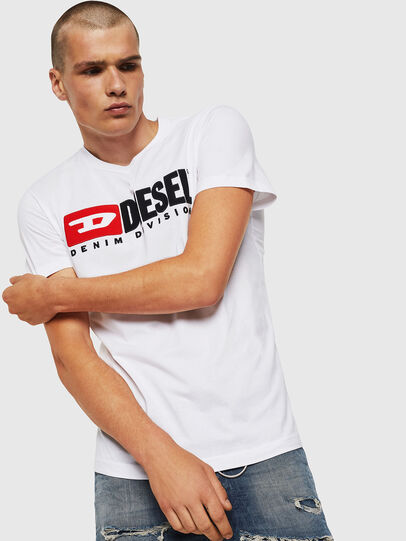 Diesel - T-DIEGO-DIVISION, White - T-Shirts - Image 1