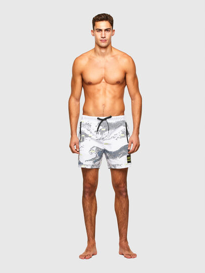 Diesel - BMBX-WAVE 2.017, White - Swim shorts - Image 1