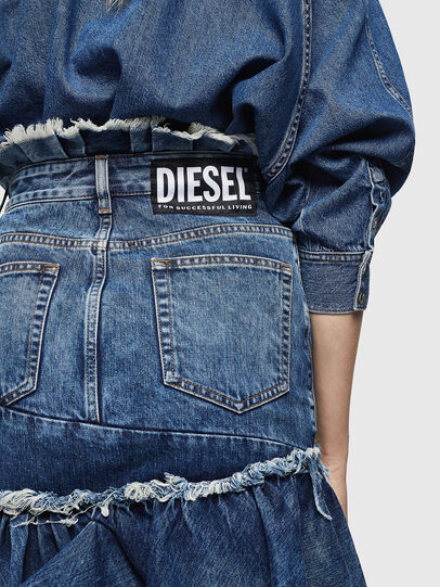 Diesel - DE-ALAYNA, Medium blue - Skirts - Image 3