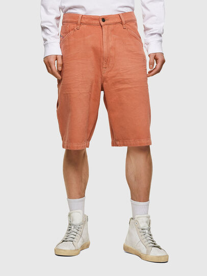 Diesel - D-FRANKY-SHORT-SP, Orange - Shorts - Image 1