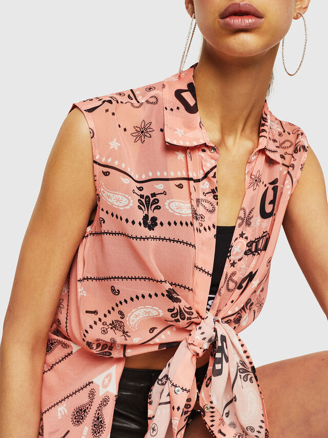 Diesel - C-SYAM, Pink - Shirts - Image 3