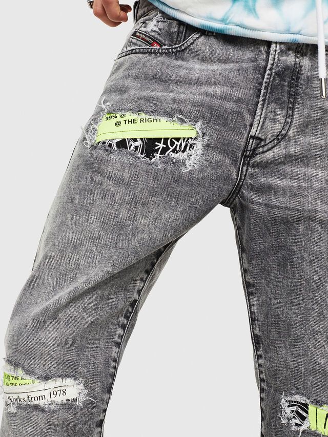 Diesel - Mharky 089AT, Light Grey - Jeans - Image 3