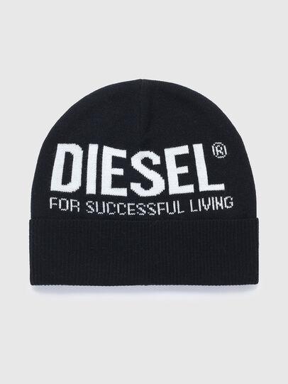 Diesel - K-BECKY D, Black - Knit caps - Image 1