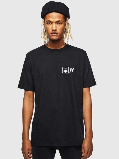 Diesel - T-JUST-VINT, Black - T-Shirts - Image 1