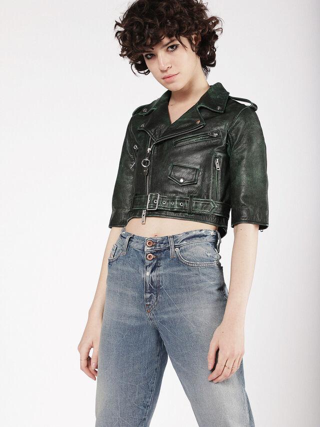 Womens L Jupor Leather Jacket Diesel Online Store