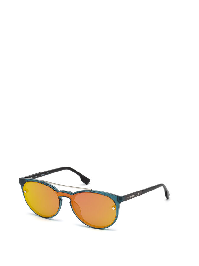 Diesel - DL0216, Blue/Orange - Eyewear - Image 4