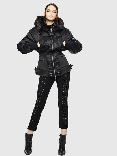 Diesel - W-ISOKE-A, Black - Winter Jackets - Image 7