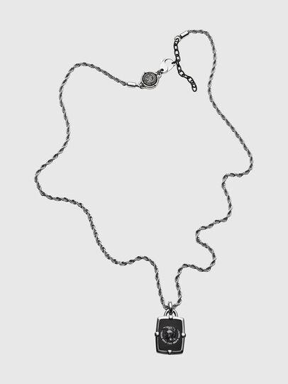 Diesel - DX1174, Silver/Black - Necklaces - Image 1