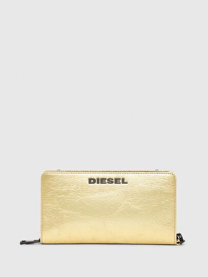 Diesel - GRANATO LCLS, Gold - Zip-Round Wallets - Image 1