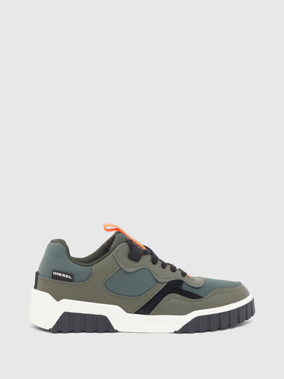 Diesel - S-RUA LOW SK, Olive Green - Sneakers - Image 1