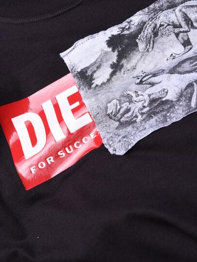 Diesel - TJUSTXH, Black - T-shirts and Tops - Image 3