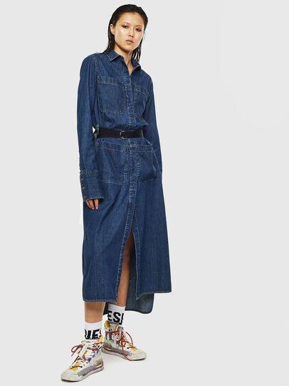 Diesel - DE-TOKYO, Medium blue - Dresses - Image 1