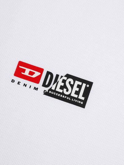 Diesel - T-WEET-SPLIT, White - Polos - Image 3