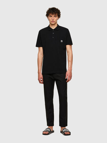 Diesel - T-POLO-WORKY, Black - Polos - Image 4