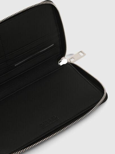 Diesel - GRANASOF, Black - Zip-Round Wallets - Image 4