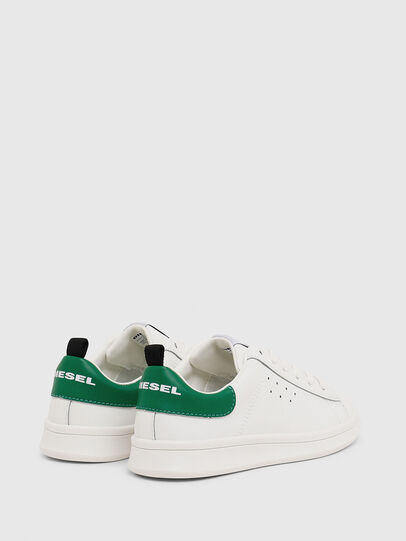 Diesel - SN LOW LACE 11 FULL, White/Green - Footwear - Image 3