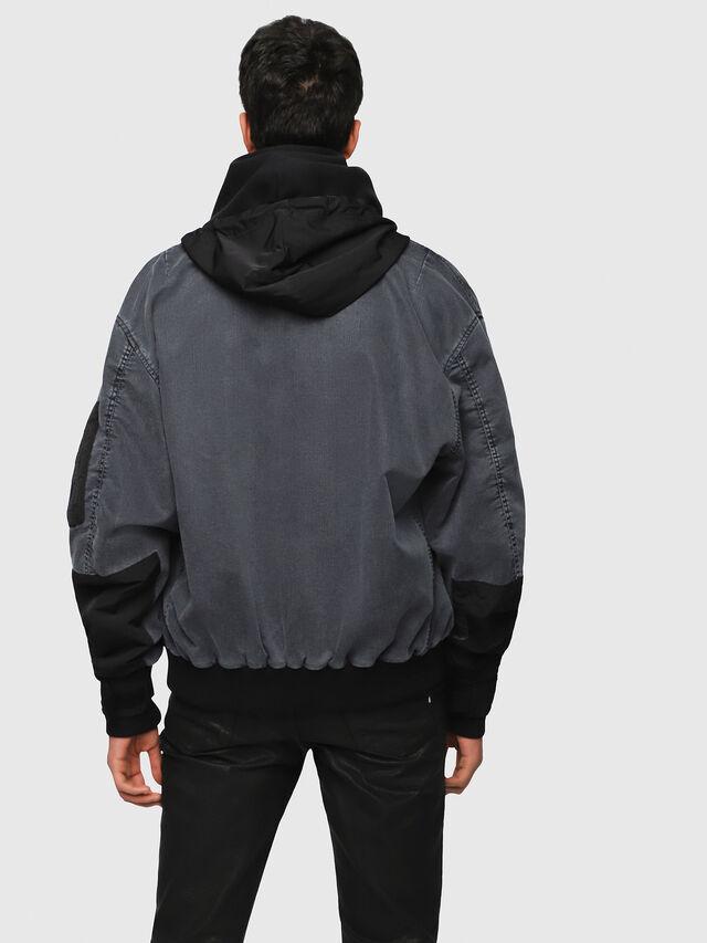 Diesel - D-EEJACK JOGGJEANS, Black/Dark grey - Denim Jackets - Image 2