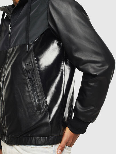 Diesel - L-CARRS, Black - Leather jackets - Image 5