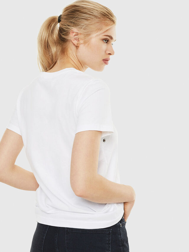 Diesel - T-SILY-WO, White - T-Shirts - Image 2