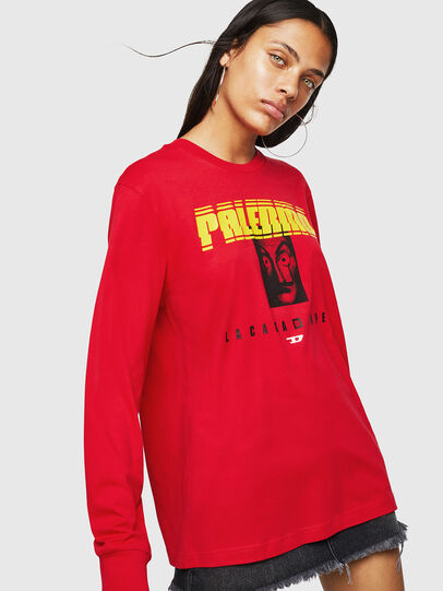 Diesel - LCP-T-JUST-LS-PALERM, Red - T-Shirts - Image 2