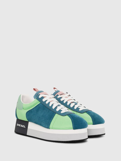 Diesel - S-PYAVE WEDGE, Green/Blue - Sneakers - Image 2