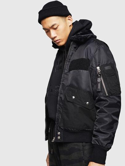 Diesel - W-SLOTKIN-A, Black - Winter Jackets - Image 4