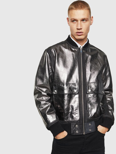 Diesel - L-STEWARD-FOIL,  - Leather jackets - Image 1