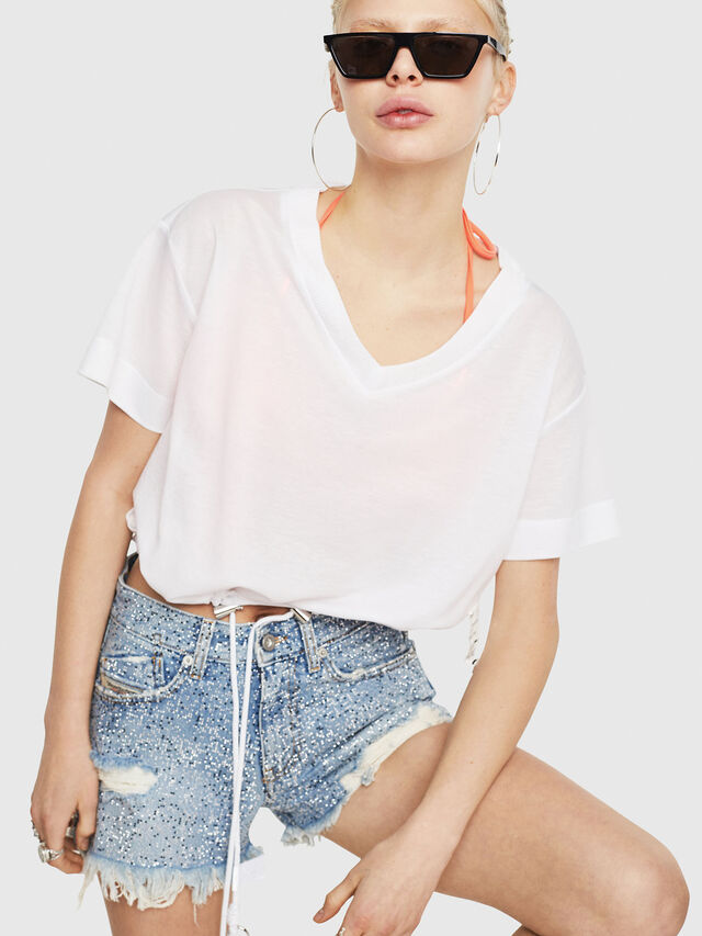 Diesel - T-ELISY-A, White - T-Shirts - Image 1