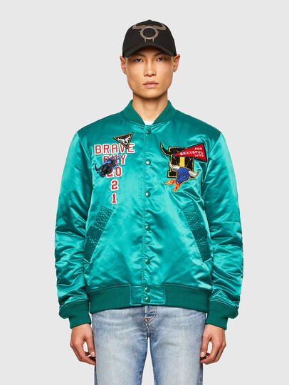 Diesel - CL-J-ROSS-REV-O, Water Green - Jackets - Image 1