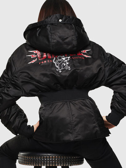 Diesel - CL-W-ISOKE-A-LITM, Black - Winter Jackets - Image 2