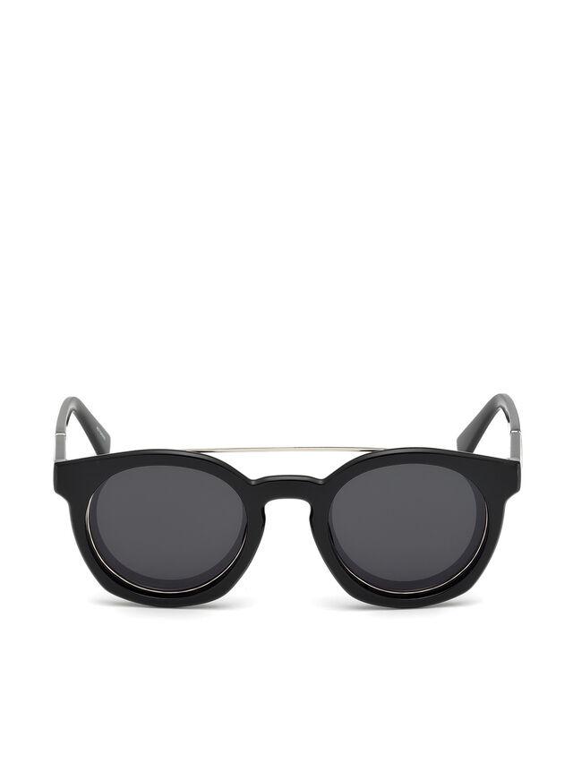 Diesel - DL0251, Bright Black - Sunglasses - Image 1