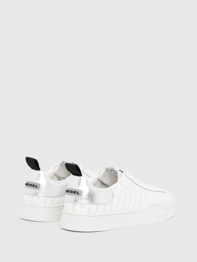 Diesel - S-CLEVER LOW LACE, White/Silver - Sneakers - Image 3