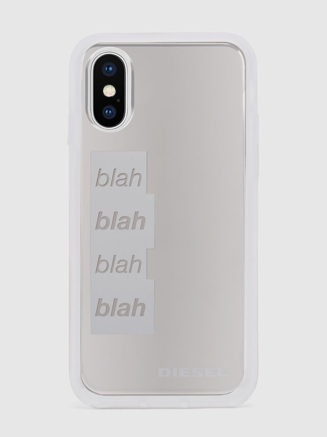 Diesel - BLAH BLAH BLAH IPHONE X CASE, White - Cases - Image 2