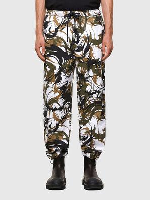 P-TRIBE, White/Green - Pants